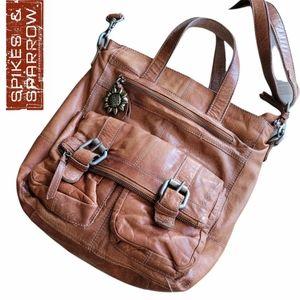 Spikes & Sparrow Genuine Leather Satchel Bag